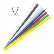 Dorsini Triangolari Grigio 15mm Plastici per Rilegatura - Wiler DR15GR