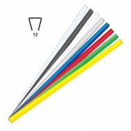Dorsini Triangolari Gtigio 12mm Plastici per Rilegatura - Wiler DR12GR