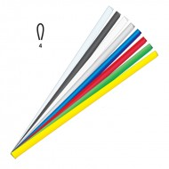 Dorsini Ovali Giallo 4mm Plastici per Rilegatura - Wiler DR4G