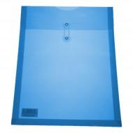 Busta Blu a soffietto PP Verticale chiusura a cordino - Wiler X002BL