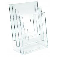 Portadepliant a 3 Scomparti A4 in Plastica Trasparene Formato cm. 23x33 - Lebez 5024