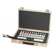 Valigetta in legno Set dell'artista 17 pezzi - Lebez 80587