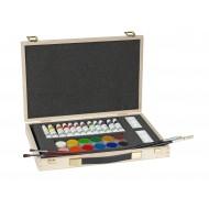 Valigetta in legno Set pittore 30 pezzi - Lebez 80588