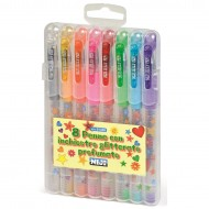 Penne con inchiostro glitter profumato set da 8 colori assortiti - Niji 61348