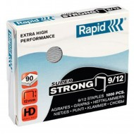 Punti Rapid 9/12 Super Strong per Cucitrici - Scatolo 1000 punti - 24871300