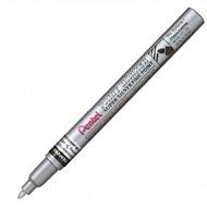 "Marcatore Argento ""F"" Permanente Punta Fine 2,9mm paint marker linea amiko - Pentel MSP10-Z"