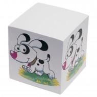 """Cubo Carta Bianca per Appunti """"Cane"""" dorso Incollato - Wiler C3C"""