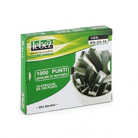 Punti per cucitrici 23/10 zincati in acciaio scatola 1000 punti - Lebez KH-23-10