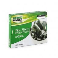 Punti per cucitrici 23/15 zincati in acciaio scatola 1000 punti - Lebez KH-23-15