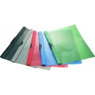 Cartellina A4  Rosso in Polipropilene con Clip in Metallo, Fondo Opaco e Copertina Trasparente - Confezione 6 pezzi - XC30R