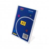 """Portadepliant  a """"L"""" Formato A5 in PS stampato ad iniezione - Wiler DSLA5"""