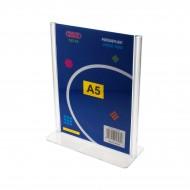 """Portadepliant  a """"T"""" Formato A5 in PS stampato ad iniezione - Wiler DSTA5"""