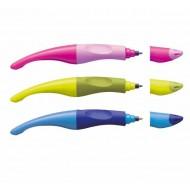 Penna Roller Ergonomica per Destomani in Tubo con 3 Refills, inchiostro Blu - Stabilo 6892