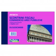 Scontrini fiscali 7,4x12cm per ambulanti in forma itinerante blocco da 100 fogli - Gruppo Buffetti DU1633CM000