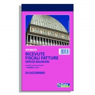Ricevute fiscali - fatture per attività specifiche Servizi Balneari - Gruppo Buffetti DU1623R0000