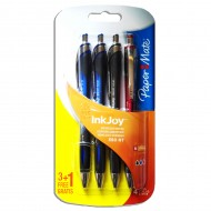 Penne a scatto a sfera InkJoy blister 3+1 Gratis 3 colori  - Papermate 1901435