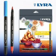 Pennarelli Acqua Drush Duo acquarellabili confezione da 24 - Lyra L6521240 / 76862