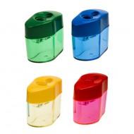 Temperamatite a 2 fori esagonale con serbatpio trasarente colorato - Wiler 00346