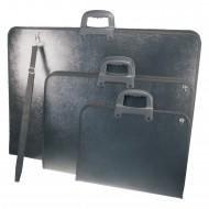Borsa Portadisegni nera cm. 38,5x54 in Polipropilene con maniglie e tracolla  XV3550