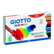 Pastelli a Olio da 12 colori in astuccio - Giotto 293000 / 28124