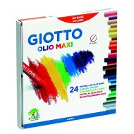 Pastelli a Olio da 24 colori in astuccio - Giotto 293100 / 28125