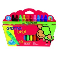 Super Pastelli a cera be-bè confezione da 10 - Giotto 466800 / 56938