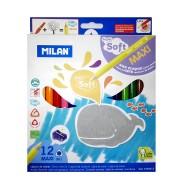 Pastelli Super Soft impugnatura a triangolo Astuccio da 12 - Milan Since 1918 Spain 0792612