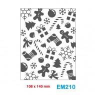 Cartella effetto rilievo 2D Embossing Forma Gingerbread - Wiler EM210