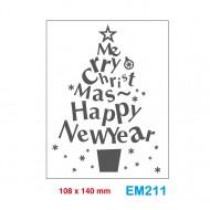 Cartella effetto rilievo 2D Embossing Forma Albero di Natale - Wiler EM211
