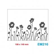 Cartella effetto rilievo 2D Embossing Forma Fiori - Wiler EM216