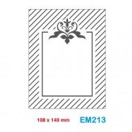 Cartella effetto rilievo 2D Embossing Forma Cornice decorativa - Wiler EM213