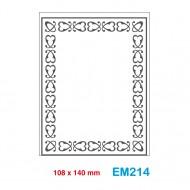 Cartella effetto rilievo 2D Embossing Forma Cornice decorativa - Wiler EM214
