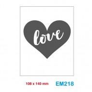 Cartella effetto rilievo 2D Embossing Forma Cuore love - Wiler EM218