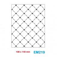 Cartella effetto rilievo 2D Embossing Forma Graticcio cuori - Wiler EM219