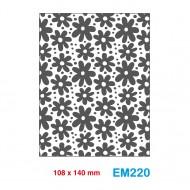 Cartella effetto rilievo 2D Embossing Forma Fiori - Wiler EM220