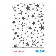 Cartella effetto rilievo 2D Embossing Forma Stelle 128x180mm - Wiler EM508