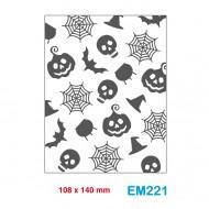 Cartella effetto rilievo 2D Embossing Forma Halloween 108x140mm - Wiler EM221