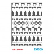 Cartella effetto rilievo 2D Embossing Forma Christmas love 128x180mm - Wiler EM509
