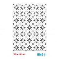 Cartella effetto rilievo 2D Embossing Forma Graticcio gocce 128x180mm - Wiler EM511