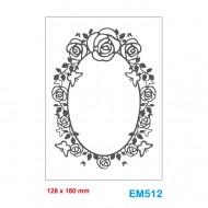 Cartella effetto rilievo 2D Embossing Forma Cornice rose 128x180mm - Wiler EM512