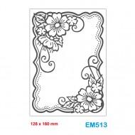Cartella effetto rilievo 2D Embossing Forma Cornice fiori 128x180mm - Wiler EM513