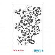Cartella effetto rilievo 2D Embossing Forma Bouquet fiori 128x180mm - Wiler EM514