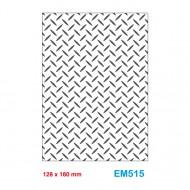 Cartella effetto rilievo 2D Embossing Forma Trama riso 128x180mm - Wiler EM515