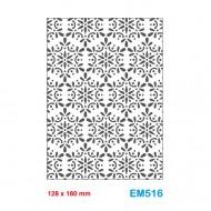 Cartella effetto rilievo 2D Embossing Forma Decoro floreale 128x180mm - Wiler EM516
