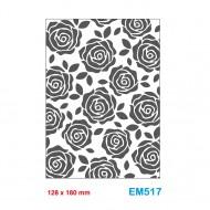 Cartella effetto rilievo 2D Embossing Forma Rose 128x180mm - Wiler EM517