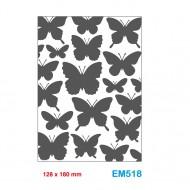 Cartella effetto rilievo 2D Embossing Forma Farfalle 128x180mm - Wiler EM518