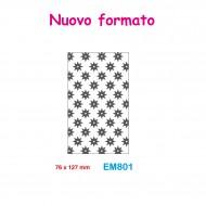 Cartella effetto rilievo 2D Embossing Forma Stelle 8 punte 76x127mm - Wiler EM801