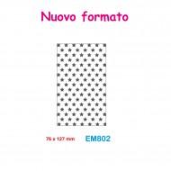 Cartella effetto rilievo 2D Embossing Forma Stelle 76x127mm - Wiler EM802