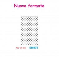 Cartella effetto rilievo 2D Embossing Forma Cuori 76x127mm - Wiler EM803