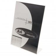 """Portadepliant  a """"L"""" Formato A4 in Acrilico Trasparente - Wiler PMMA5702"""